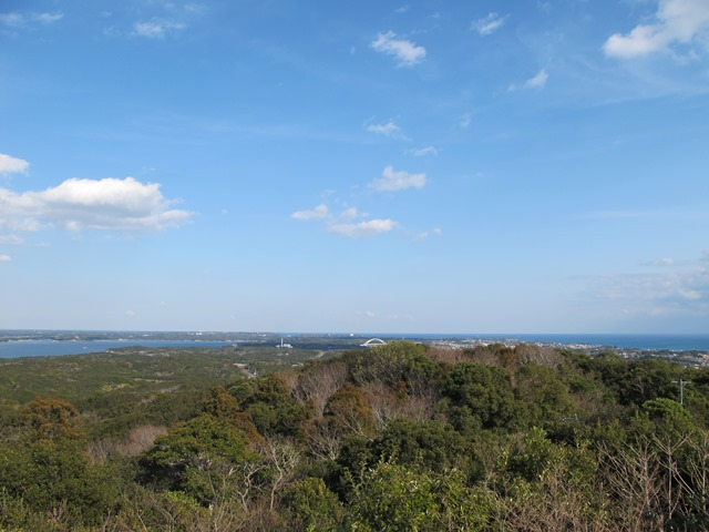 金比羅山から見えるパールブリッジ