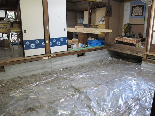 籠堂(こもりどう)の1室の改修